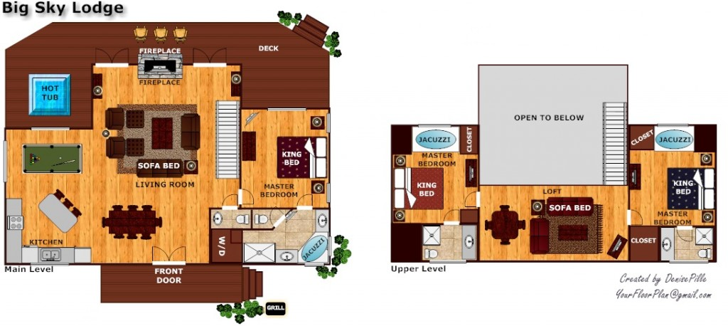 Floor Plan for Big Sky Lodge