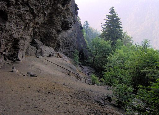 Alum Cave Bluff in the Great Smoky Mountains National Park