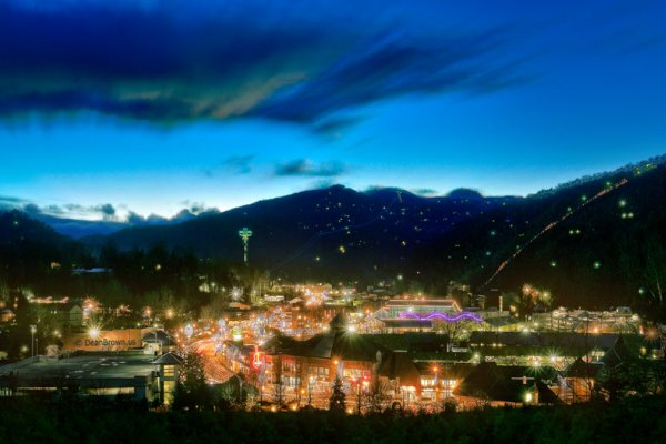 Downtown Gatlinburg at night
