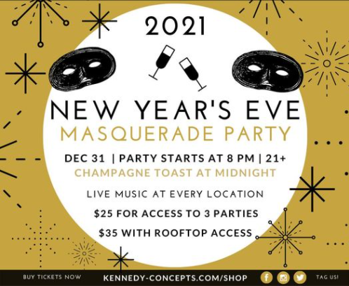 2020 masquerade party in gatlinburg on new years eve