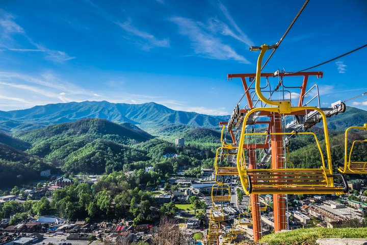 A view of Mt. LeConte and the Gatlinburg Chairlift