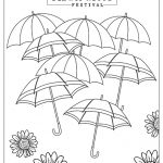 coloring page of umbrellas at Dollywood's Flower and Food festival