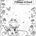 coloring page of a frog at Dollywood's Flower and Food festival