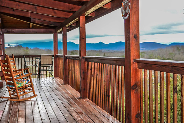 Eagle's Nest porch and view