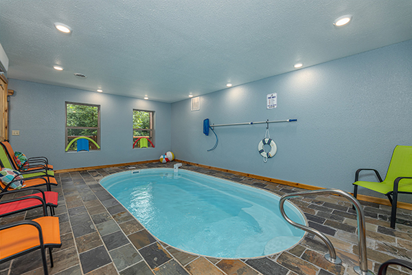 a gatlinburg cabin with an indoor pool