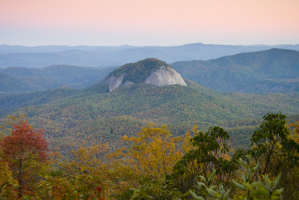 Looking Glass Rock at sunset